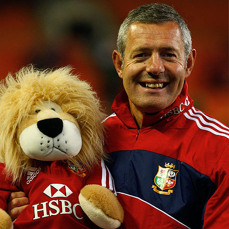 Gavin Hastings with lion